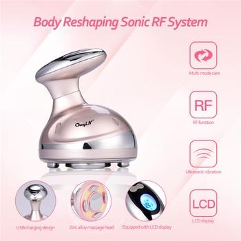Professional LCD RF Massager Cavitation Ultrasonic Vibration EMS Radio Frequency Weight Loss Body Shape Slimming Anti Cellulite