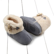 2019 New Casual Buckle Toddler Children Snow Boots Non-slip Kids Girl Fur Shoes Baby Boy Keep Warm Shoes Boots for Winter(China)
