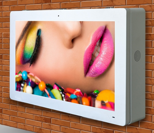 Ip65 Outdoor Wall Mounted In Sun 2000cd Waterproof Signage Multimedia Advertising Lcd Display Screen Monitor 55 Inch Pc Buit In