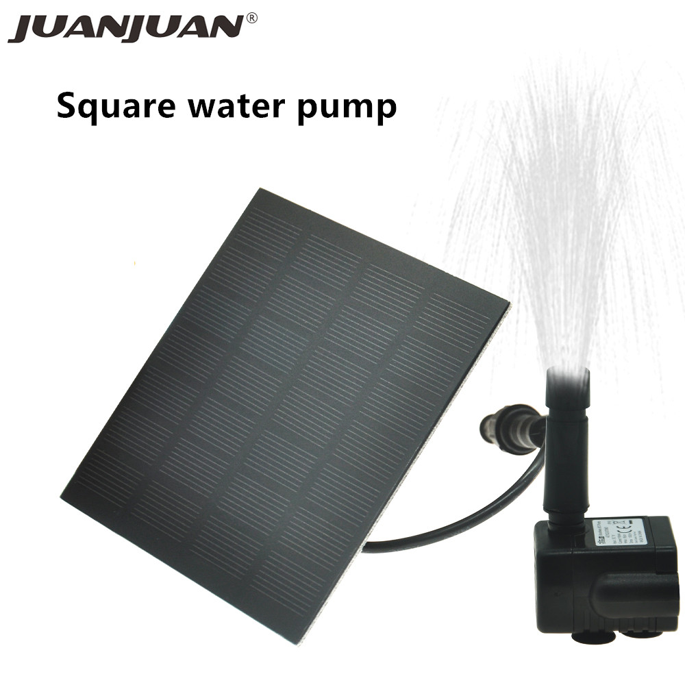 Solar Fountain Power Panel Water Pump Garden Pool Pond Outdoor Solar Panel Fountain Floating Garden Decoration Waterfall 40%off