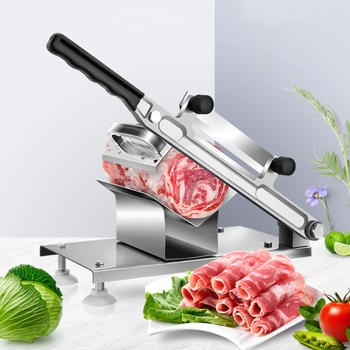Household Manual Stainless Steel Food Slicer Vegetable And Fruit Slicer Kitchen Beef And Mutton Roll Frozen Meat Meat Grinder