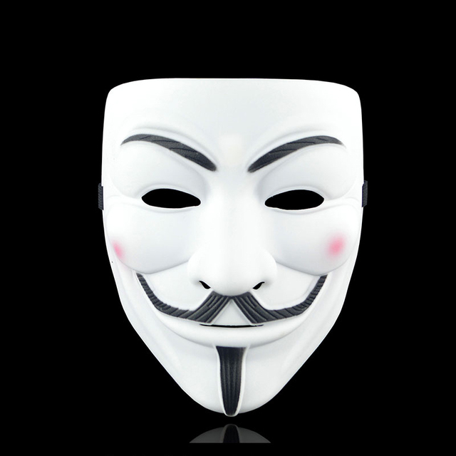 Movie Cosplay V for Vendetta Hacker Mask Anonymous Guy Fawkes Halloween Christmas Party Gift for Adult Kids Film Theme Mask 2