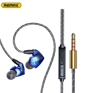 BL 3,5 мм динамический In-Ear Проводные Наушники Hi-Fi тяжелый бас спортивные наушники с микрофоном ушной крючок Quad-Core двойного действия катушки высокого качества звука гарнитуры