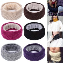 Winter Warm Brushed Knitted Neck Thicken Warmer Circle Wrap Cowl Loop Snood Shawl Outdoor Skiing Climbing Scarf For Men Women