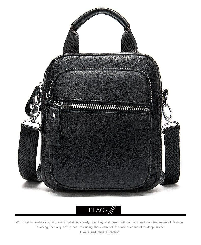Men's Genuine Leather Bag Crossbody Bags For Male's Messenger Bag Men Leather Men's Shoulder Bags Male Handbags
