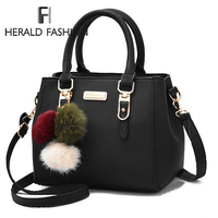 SHUJIN, женские сумки с помпонами из искусственной кожи, сумка-Топик с ручкой и вышивкой, сумка через плечо, женская сумка в простом стиле, ручна...