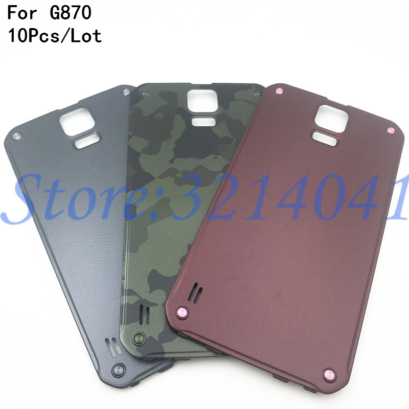 10Pcs/Lot Battery Back Door Rear Cover For Samsung Galaxy S5 Active <font><b>G870</b></font> Housing Door Battery Back Cover image