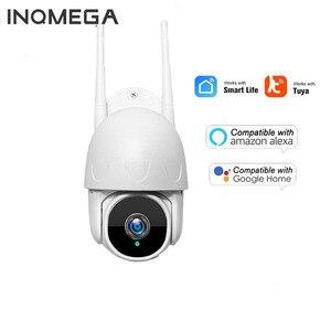 Wi-Fi TUYA камера Smart Cloud 1080P PTZ IP камера наружного автоматического слежения Google Home Alexa камера видеонаблюдения CCTV безопасности