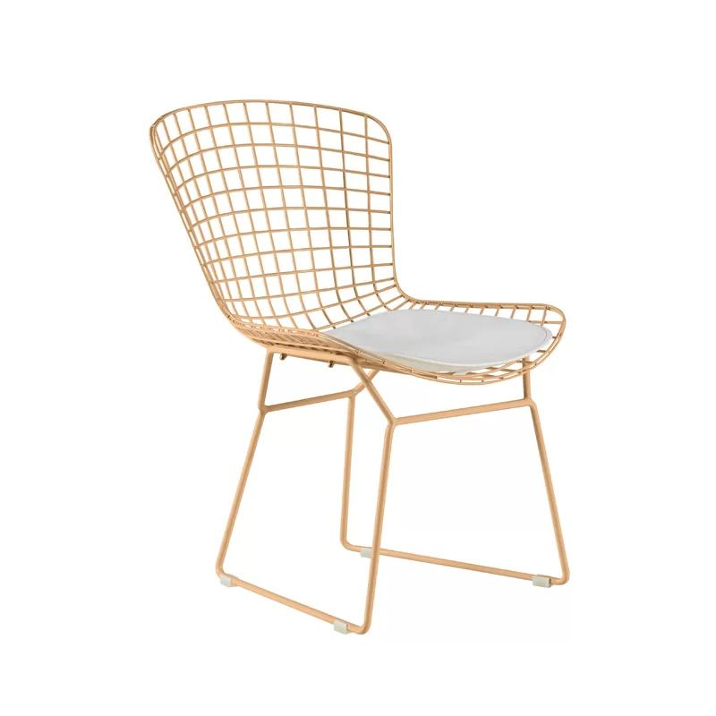 Nordic Hollow Wire Chair Wrought Iron Modern Minimalist Home Casual Restaurant Living Room Golden Chair Cadeiras Sillones Cheap