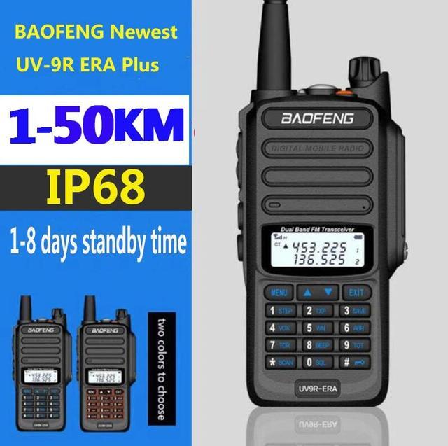 جديد 2021 baofeng uv 9r ERA زائد IP68 مقاوم للماء اسلكية تخاطب طويلة المدى 30 كجم سيارة cb هام راديو hf جهاز الإرسال والاستقبال UHF محطة راديو