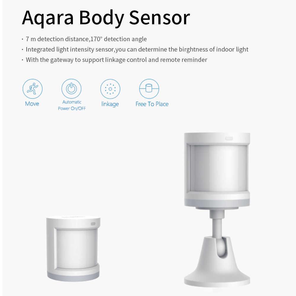 Aqara hareket sensörü insan vücudu sensörü hareket ZigBee kablosuz bağlantı Alarm sistemi ile çalışmak Apple Homekit/Xiaomi mijia