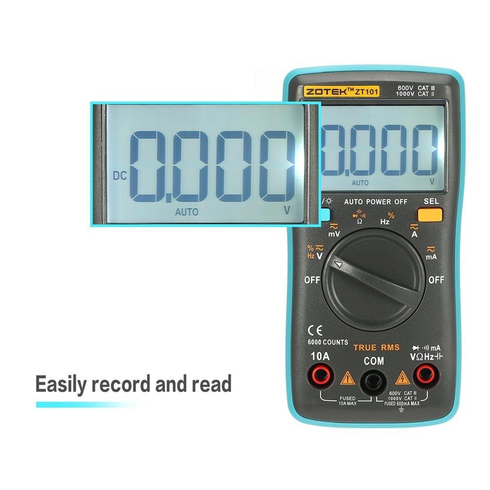 ZOTEK ZT101 Mini Auto Range Digital Multimeter 5