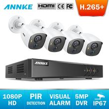 ANNKE 8CH 5MP Lite 5in1 CCTV DVR HD 4 adet TVI güvenlik kamera PIR algılama açık bullet kamera ev Video gözetim sistemi