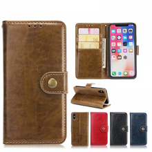 Get more info on the 7Plus Plus Leather Case for iPhone 7 8 XS X Shell 6S 6 Plus SE 5S 5 Flip Case Luxury Coque Metal Button Book Cover Wallet Hoesje