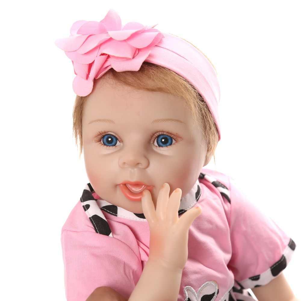 """55 см/22 """"виниловые куклы Reborn Baby тканевые куклы ручной работы Мягкие силиконовые реалистичные подарок для мальчика девочки Bebes reborn Toy"""