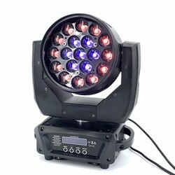 Светодиодный 19x15 Вт RGBW светильник для мытья луча/масштабирования Профессиональный DJ/бар светодиодный сценический аппарат DMX512 светильник с...