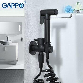GAPPO bathroom shower bidet toilet BRASS sprayer  Bidets black muslim shower bidet faucet wall mount washer mixer taps black shower mixer set with bidet bathroom shower wall bathroom four function shower faucet bathtub black bidet shower mj9888