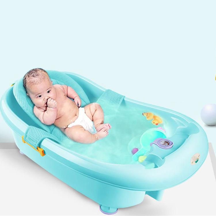 Baby Bath Security Net Newborn Bathtub Support Mat Infant Shower Care Stuff Adjustable Safety Net Cradle Swing For Infant Bath