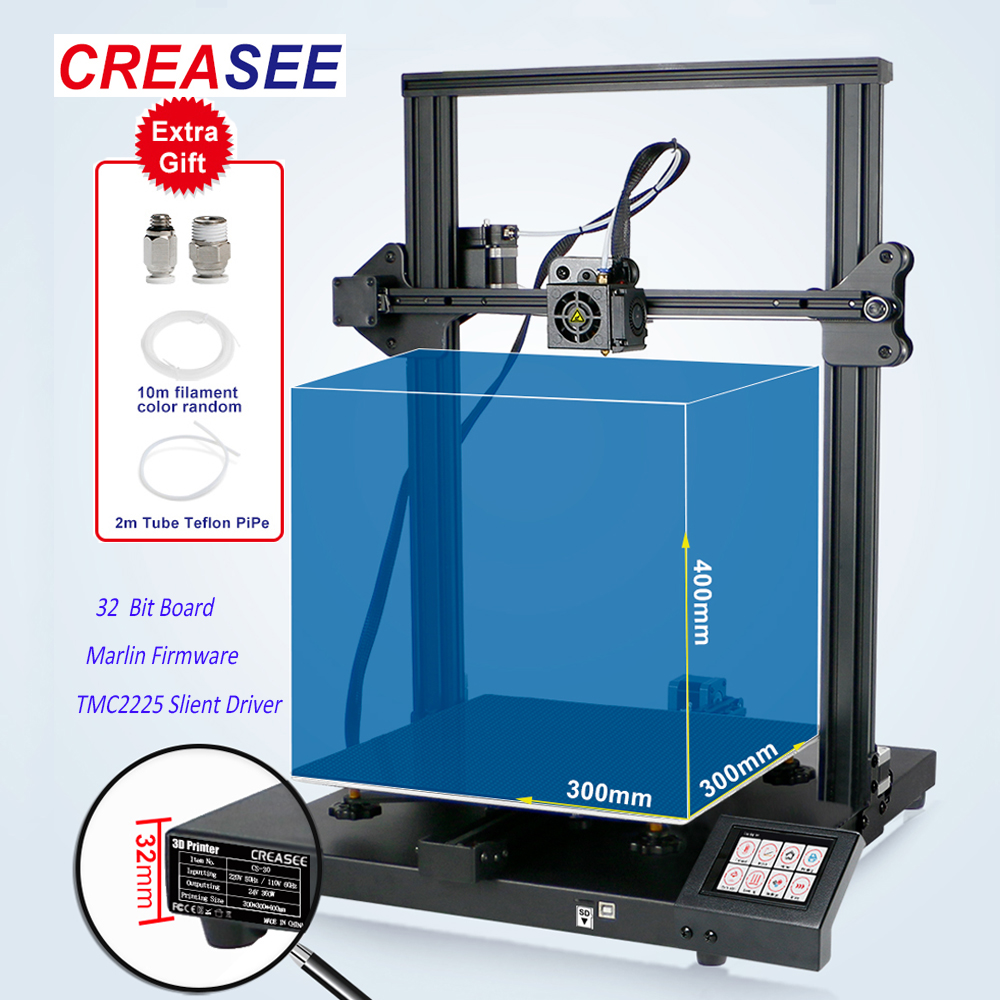 CREASEE Fdm Professional3D Printer Large Home Size Metal Printing DIY Kit 3.5Inch Touch Screen Printer 3 D Dual Z Axis 300x300