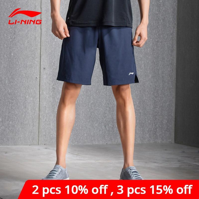 Li-Ning Men Training Shorts Gym Polyester Comfort Fitness AT DRY Brearthable Lining Li Ning Sports Sweat Shorts AKSN079 MKY359