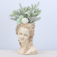 vintage Resin head sculpture flower pots Succulents Planter Pot Bonsai The root Nordic Home desktop Balcony decoration Gifts