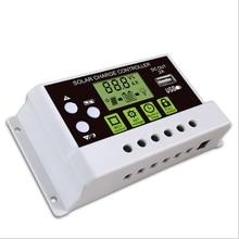 ЖК-дисплей ШИМ USB Панели солнечные Батарея регулятор заряда аккумулятора 12/24V