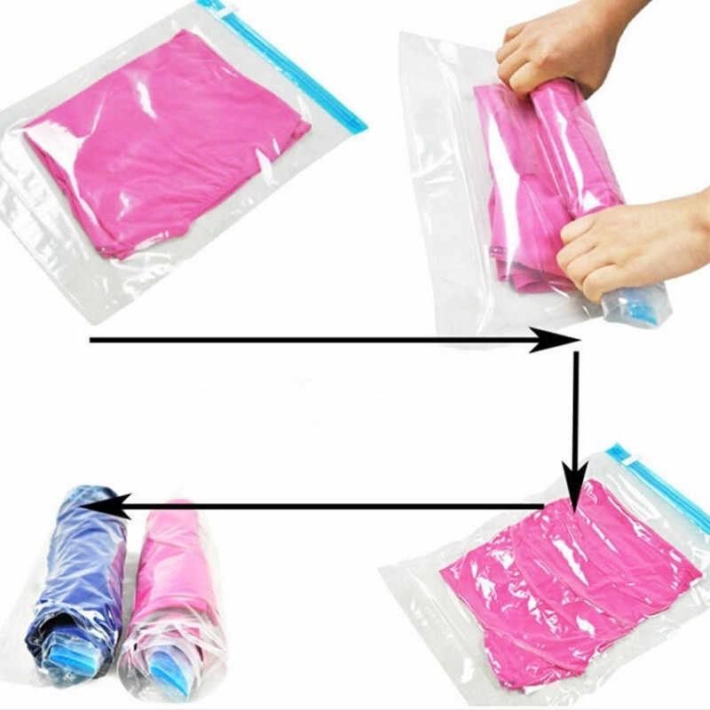 10 adet Vakum saklama çantası Plastik Haddeleme giysi saklama Çantası Uzay Koruyucu Mühür Paketi Sıkıştırma paketleme çantası Organizatör