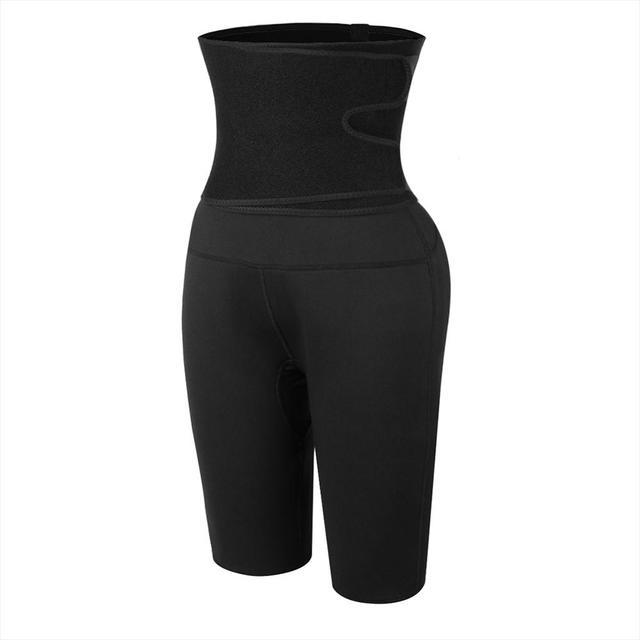 Sweat Slimming Neoprene Pants Body Shapers For Weight Loss Sauna Workouts Fajas Shapewear With Belt 1