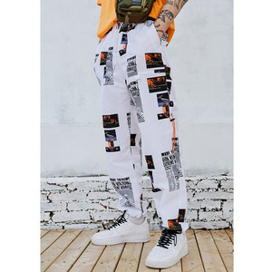 Image 3 - 2019 ฤดูร้อนJoggers Hip Hipกางเกงพิมพ์ผู้ชายHarajuku Sweatpant Streetwearแฟชั่นCasualกางเกงเหงื่อกางเกงสีขาว