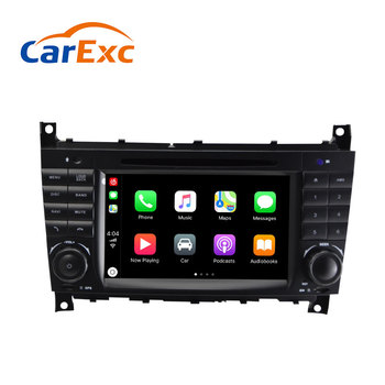 Android 9.0 Autoradio Built-in CarPlay GPS Navigation For Mercedes/Benz W203 W209 W219 W169 C180 C200 C230 C240 CLK200 CLK22 image