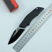 Oem kershaw faca dobrável 8cr13mov  lâmina de nylon fibra de vidro + alça de alumínio para acampamento  caça  frutas  ferramentas edc