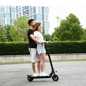 Adults Standing On Scooter Bat