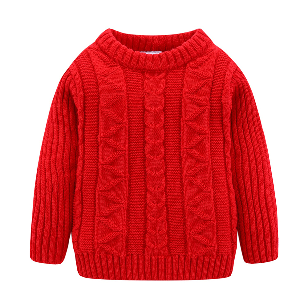 Mudkingdom Boys Sweater Pullover Solid Autumn and Winter Cotton Knitted Sweater Girls Tops Kids Sweaters 3