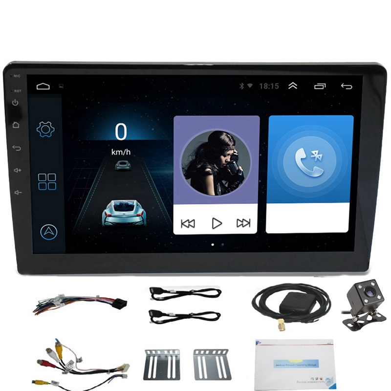 <font><b>10.1</b></font> Inch <font><b>Android</b></font> 8.1 <font><b>Universal</b></font> Car Player 2 Din 1G RAM+16G ROM Double Din Car MP5 Play <font><b>Radio</b></font> GPS NAVIGATION WIFI Bluetooth Rear image