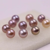 Lots 20 PCS 9.5 10mm round undrilled loose freshwater pearl new beads multi colours