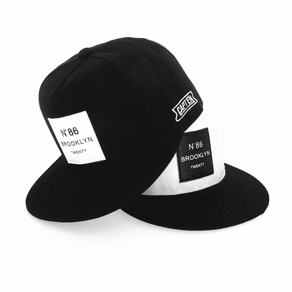 2020 New Men Womens BROOKLYN Letters Solid Color Patch Baseball Cap Hip Hop Caps Leather Sun Hat Snapback Hats