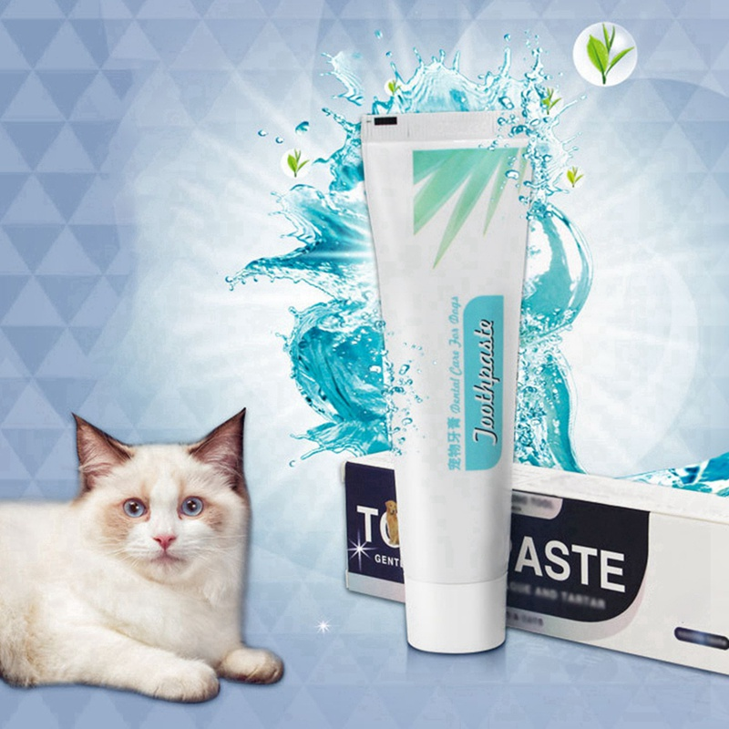1pcs Vanilla Pet Toothpaste Pet Teeth Cleaning Supplies Dog Healthy Edible Toothpaste For Dog Cat Oral Cleaning Care