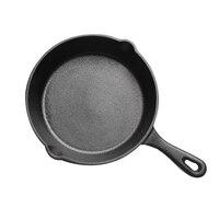 Чугунная антипригарная сковорода с длинной ручкой для жарки газовая, индукционная плита для яиц блинов кухонная посуда 14 см