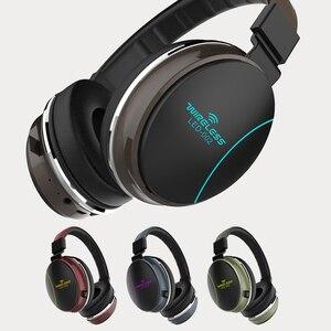 Складные беспроводные наушники Bluetooth 5,0 со светодиодной подсветильник кой, басовые стереонаушники, спортивные наушники с регулируемой подд...