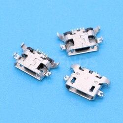 10 шт., Micro USB 5pin Тяжелая пластина 1,28 мм, без бокового плоского рта, без закручивания, боковой Женский Разъем для мобильный телефон, мини USB разъ...