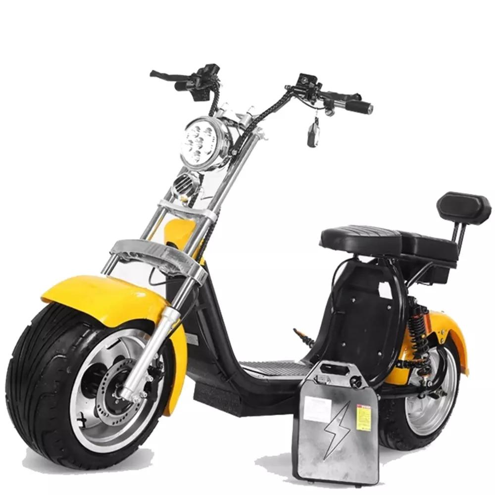 Быстрый 1500W электрический мотоцикл с 8 дюймов шины для взрослых электрических скутеров Citycoco 60v одобренный ЕЭС