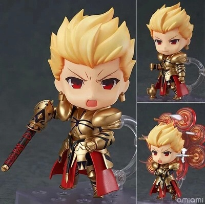 Huong Anime Figure 10 CM Fate Stay Night Gilgamesh Q Version #410 PVC Action Figure Collection Model Toys Gift