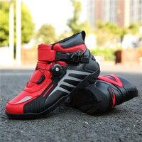 MJ MOTO Motorcycle Shoes Men/Women Ankle Locomotive Motocross Racing Boots Off Road Bike Shoe Self Locking Ultralight Athletic