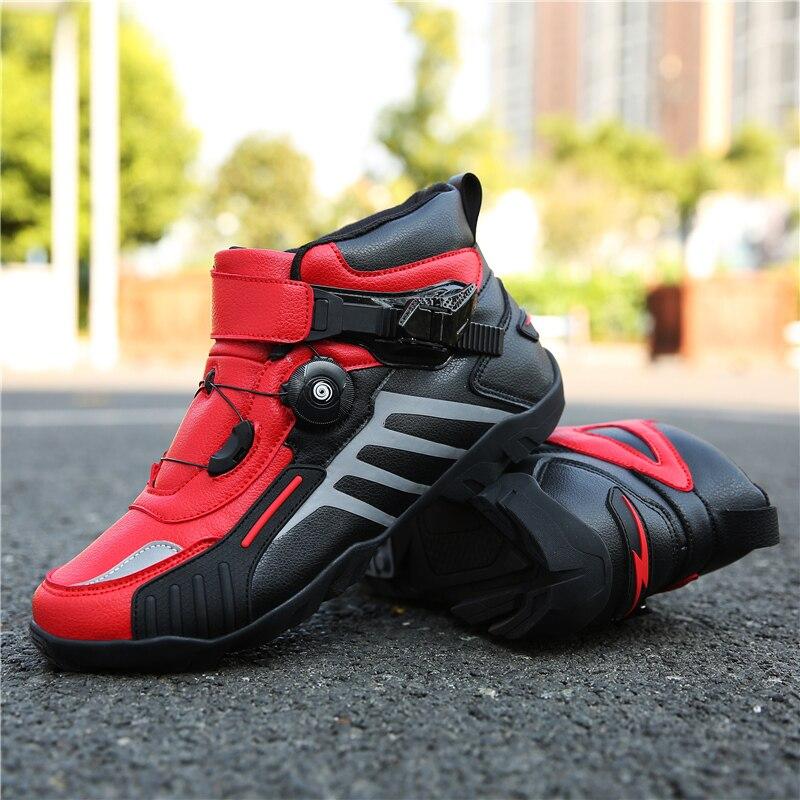 MJ MOTO buty motocyklowe mężczyźni/kobiety kostki lokomotywa Motocross buty wyścigowe Off Road buty rowerowe samoblokujący Ultralight Athletic