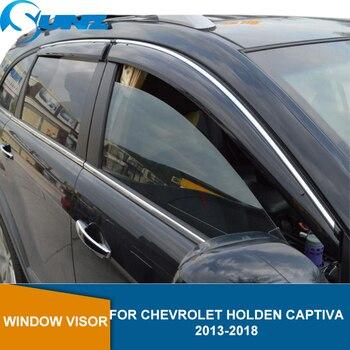 Side Window Deflectors For Chevrolet Holden CAPTIVA 2013 2014 2015 2016 2017 2018 Window Visor Sun Rain Deflector Guard  SUNZ window visor for buick encore 2013 2018 side window deflectors rain guards for buick encore 2013 2014 2015 2016 2017 2018 sunz