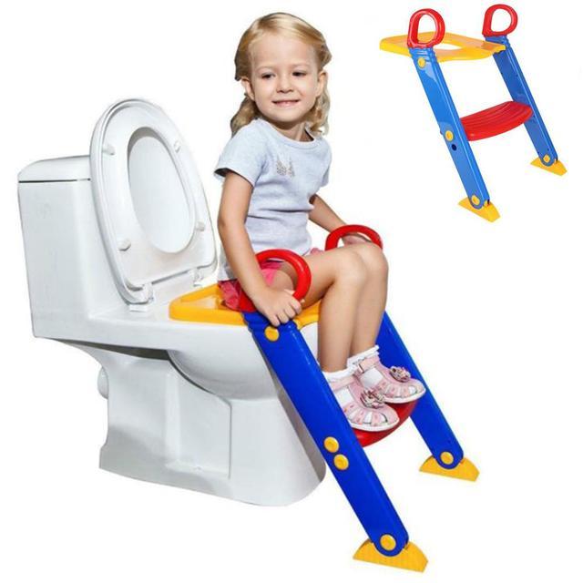 Kidlove Children Folding Toilet Ladder Baby Toilet with Pedal Adjustable Version