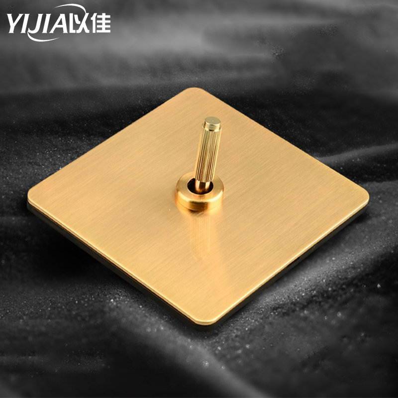 Brass wall switch,Vintage toggle switch 220V 1/2/3/4Gang.2Way 10A Vintage Retro light switches switch for livingroom brass lever
