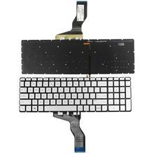 For HP Pavilion 15 AU 15 AB 15 AQ 15 AW 15 BK 15 BC M7 N 17 G Series Backlit Keyboard US Sliver