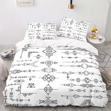 Duvet-Cover-Set Size-Bedding King with Pillowcase 203229 Retro-Style 180210 Harpoon-Pattern