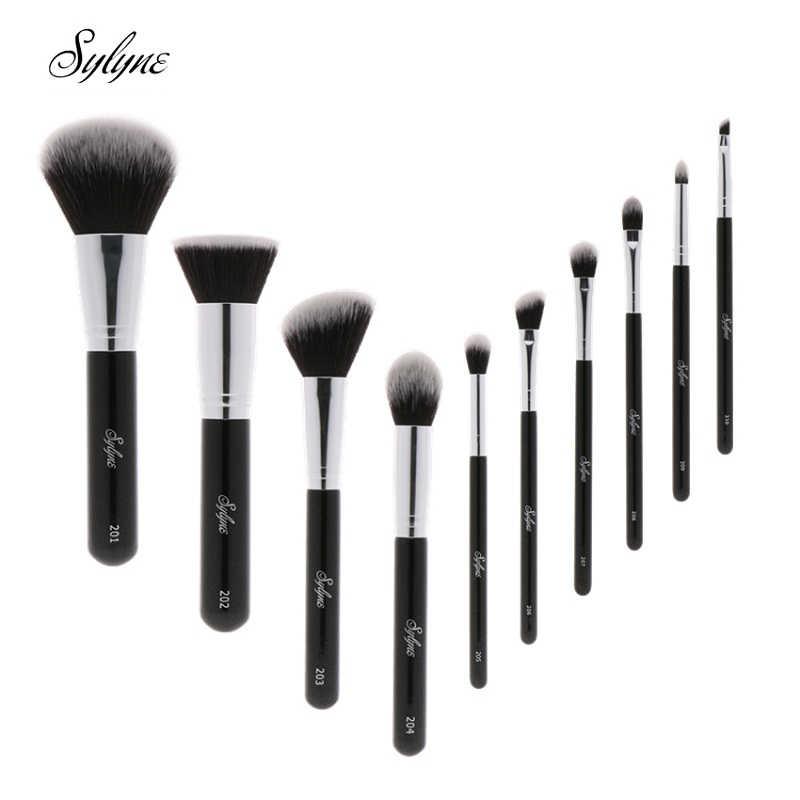 Sylyne مجموعة فرشاة للمكياج 10 قطعة عالية الجودة المهنية فرشاة للمكياج es كلاسيك الأسود مؤسسة المكياج مجموعة فرش أدوات.